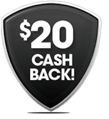 $20 cash back