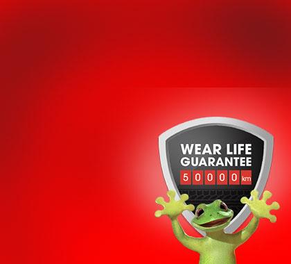 Wear life guarantee on Bridgestone Turanza Serenity Plus