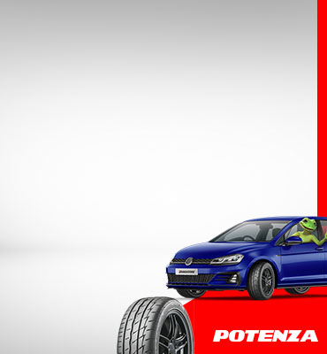 Up to $100 cash back on Bridgestone Potenza tyres